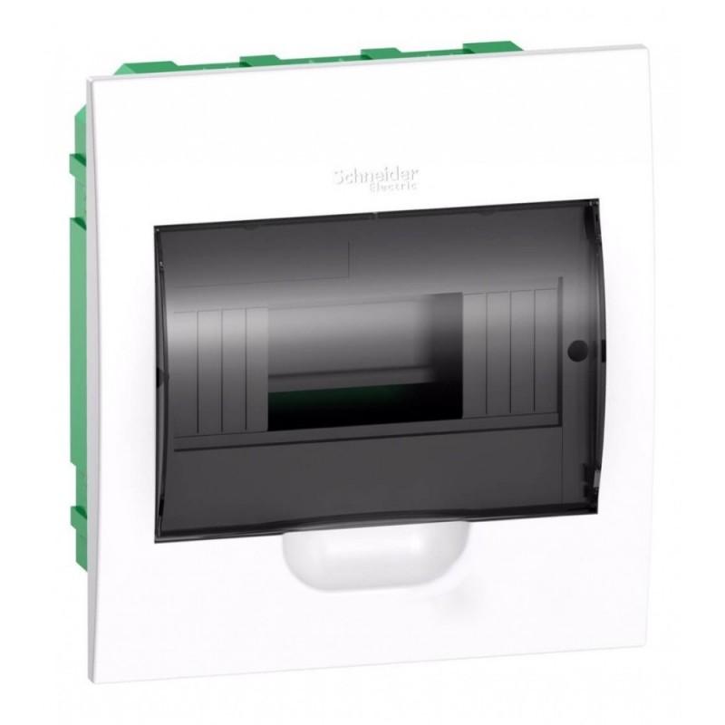 Бокс встраиваемый Schneider Electric Easy9 на 8 модулей с прозрачной дверью с клемниками N+PE