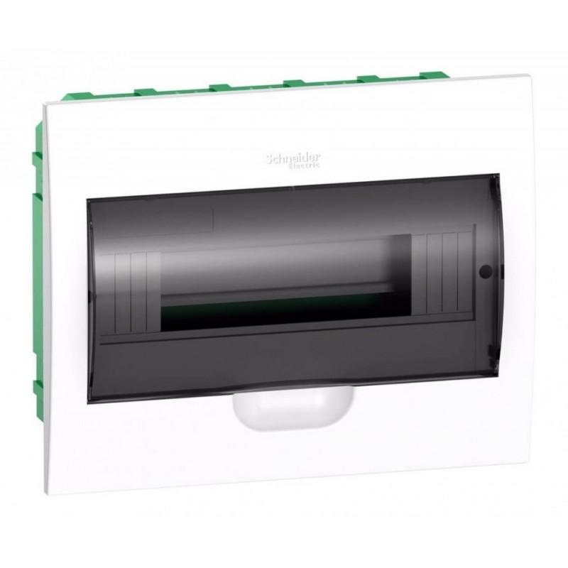 Бокс встраиваемый Schneider Electric Easy9 на 12 модулей с прозрачной дверью с клемниками N+PE