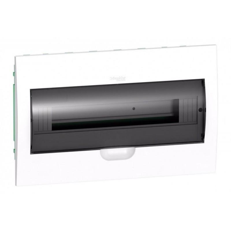 Бокс встраиваемый Schneider Electric Easy9 на 18 модулей с прозрачной дверью с клемниками N+PE