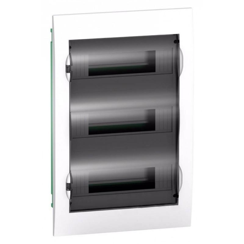Бокс встраиваемый Schneider Electric Easy9 на 36 модулей с прозрачной дверью с клемниками N+PE