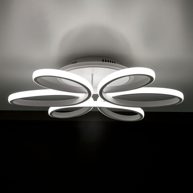 Люстра светодиодная потолочная Citilux Сезар CL233150RGB Белый
