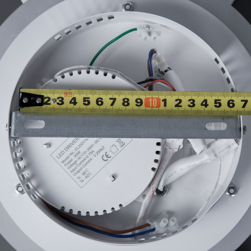 Люстра светодиодная потолочная Citilux Сезар CL233250RGB Белый