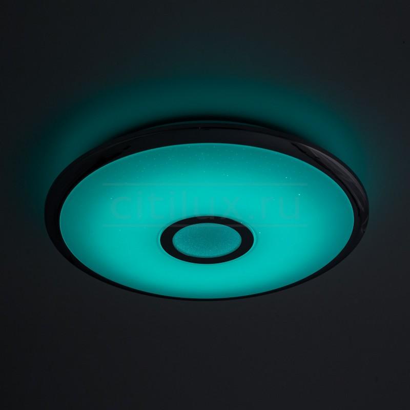 Потолочный светодиодный светильник с пультом ДУ Citilux СтарЛайт CL70340RGB Хром