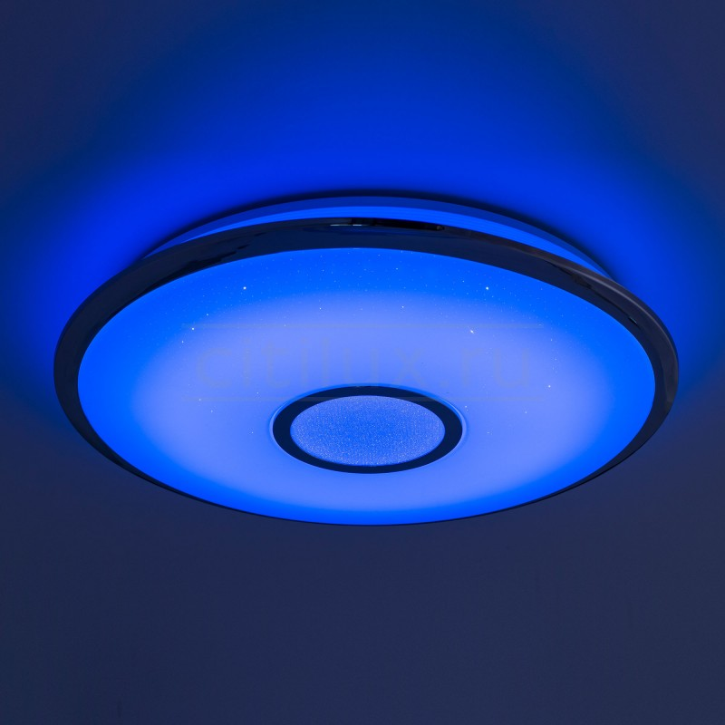 Потолочный светодиодный светильник с пультом ДУ Citilux СтарЛайт CL703100RGB Хром