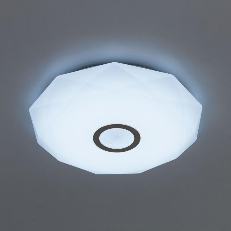Потолочный светодиодный светильник с пультом ДУ Citilux Диамант CL71340RGB Хром