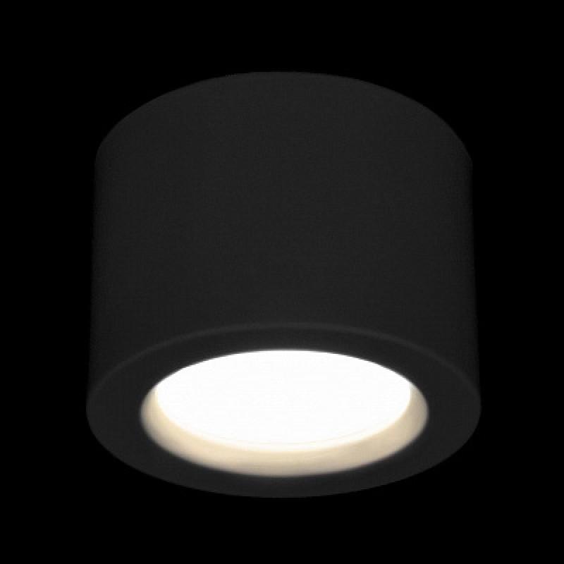 Потолочный светодиодный светильник Elektrostandard DLR026 6W 4200K черный матовый 4690389120688