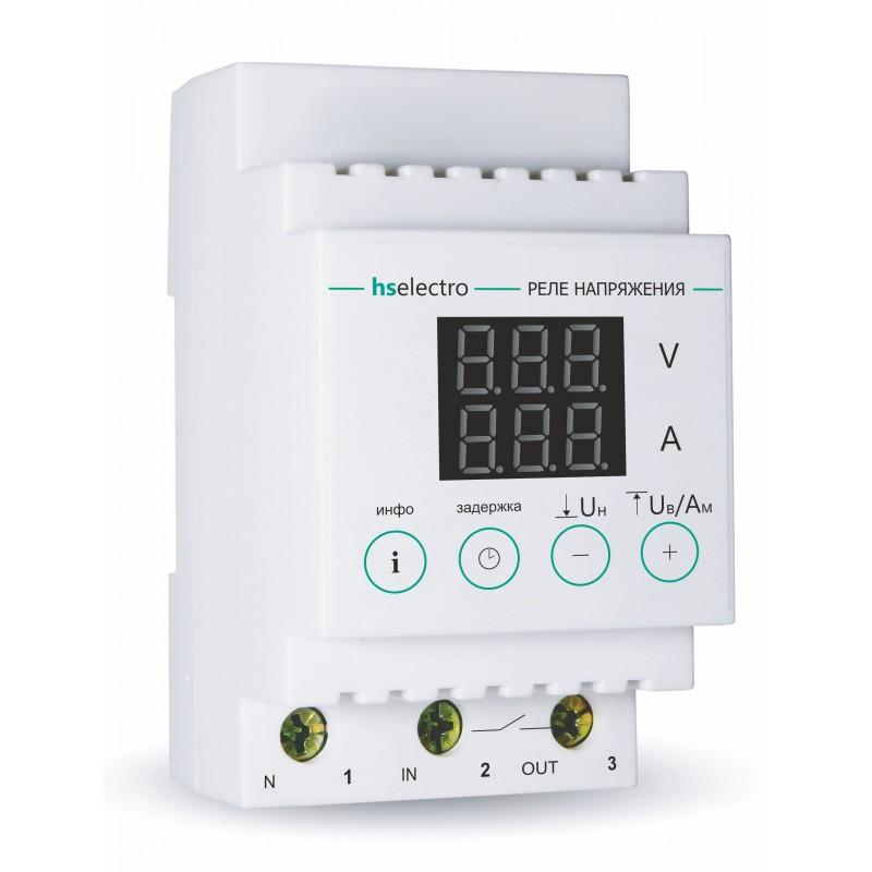 Реле напряжения с контролем тока HS Electro НТ-32с