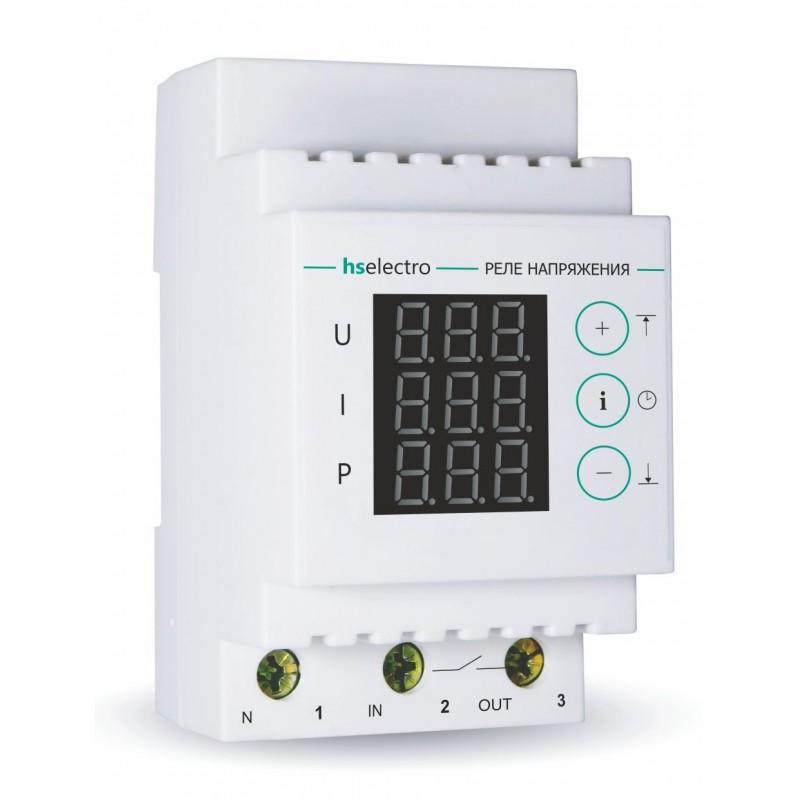 Мультифункциональное реле напряжения с контролем тока и мощности HS Electro МР-63с