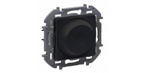 Legrand INSPIRIA Светорегулятор поворотный без нейтрали 300Вт антрацит 673793