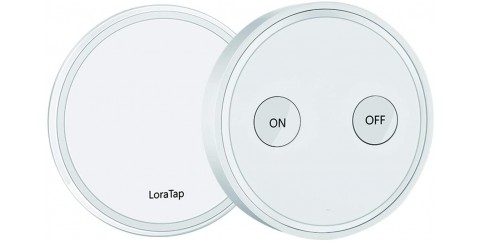 Беспроводной выключатель света LoraTap SS001KS-WHI на 1 линию Белый