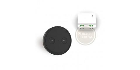 Беспроводной выключатель света LoraTap SS001KS-BLK на 1 линию Черный