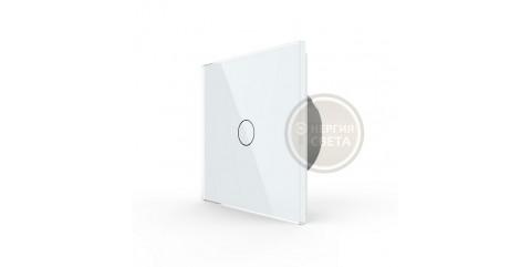 LIVOLO Сенсорный выключатель 1 клавиша 1 пост Белый VL-C701-11