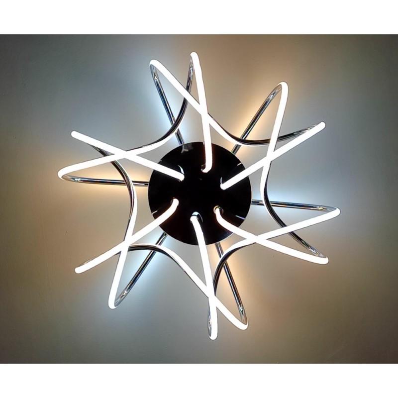 Потолочная люстра Maysun LIANA MUSE 80W R-600-CHROME/OPAL-220-IP20 / 2020 управляемая светодиодная