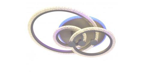 Потолочная светодиодная люстра Мелодия Света M68798-1+1+1+1/500-76W GY