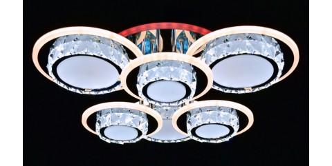 Потолочная светодиодная люстра Мелодия Света МС-LI8400/3+3 CR(RGB) Led 216W+8W 3000K+4000K+6500