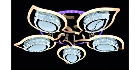 Потолочная светодиодная люстра Мелодия Света МС-LI8405/5A CR(RGB) Led 170W+10W 3000K+4000K+6500