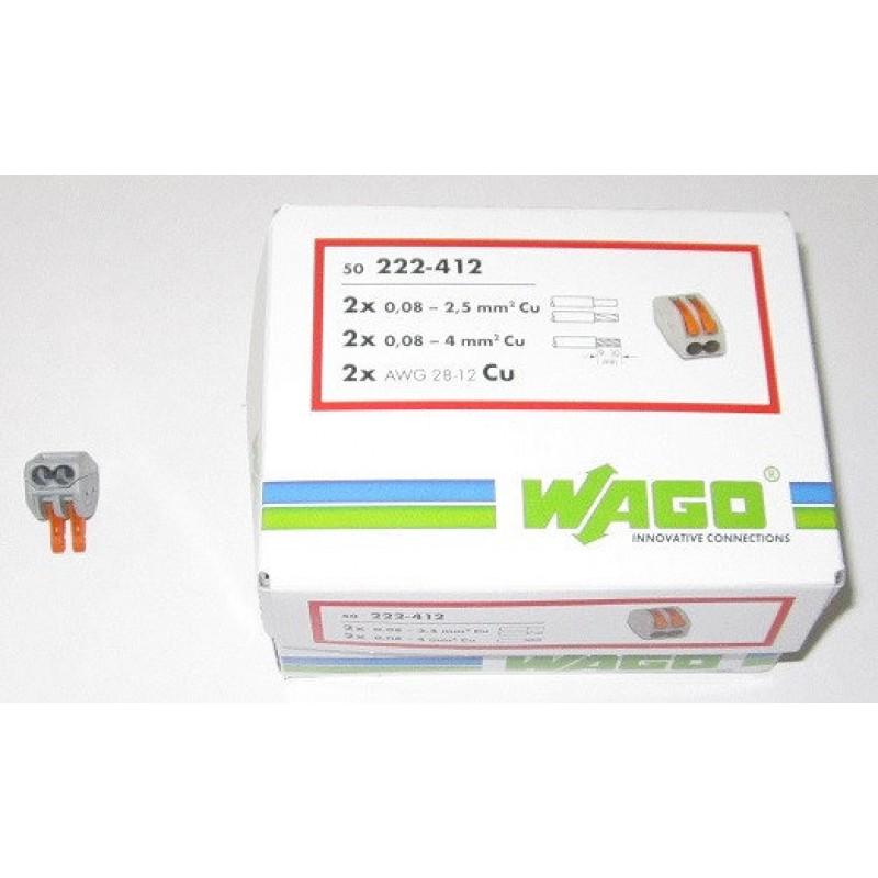 Cтроительно-монтажные клеммы WAGO 2-проводные, 222-412