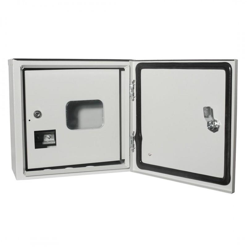 Щит учетно-распределительный навесной ЩУ-1/1-2-6 IP54 (310x310x160) 2-х дверный (антивандальный) RUCELF