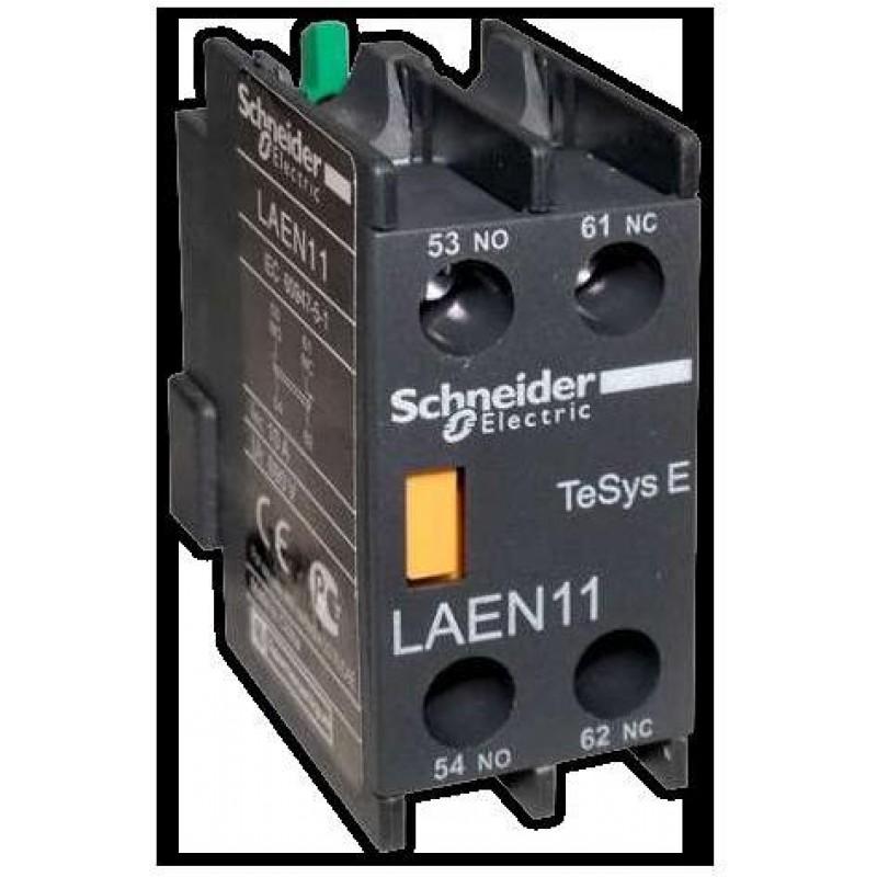 Блок дополнительных контактов(блок-контакт) LAEN11, с 1НО+1НЗ-контактами, для контакторов LC1E Schneider Electric EasyPact TVS (TeSys E)