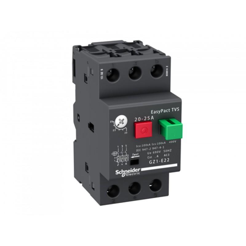 Schneider Electric GZ1E05 Автомат выключатель защиты электродвигателей до 0.18кВт, 0,63-1A