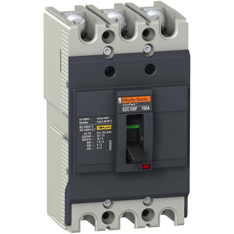 Автоматический выключатель 3-п. 100А 10KA/400В Schneider Electric EasyPact TVS EZC100F3100