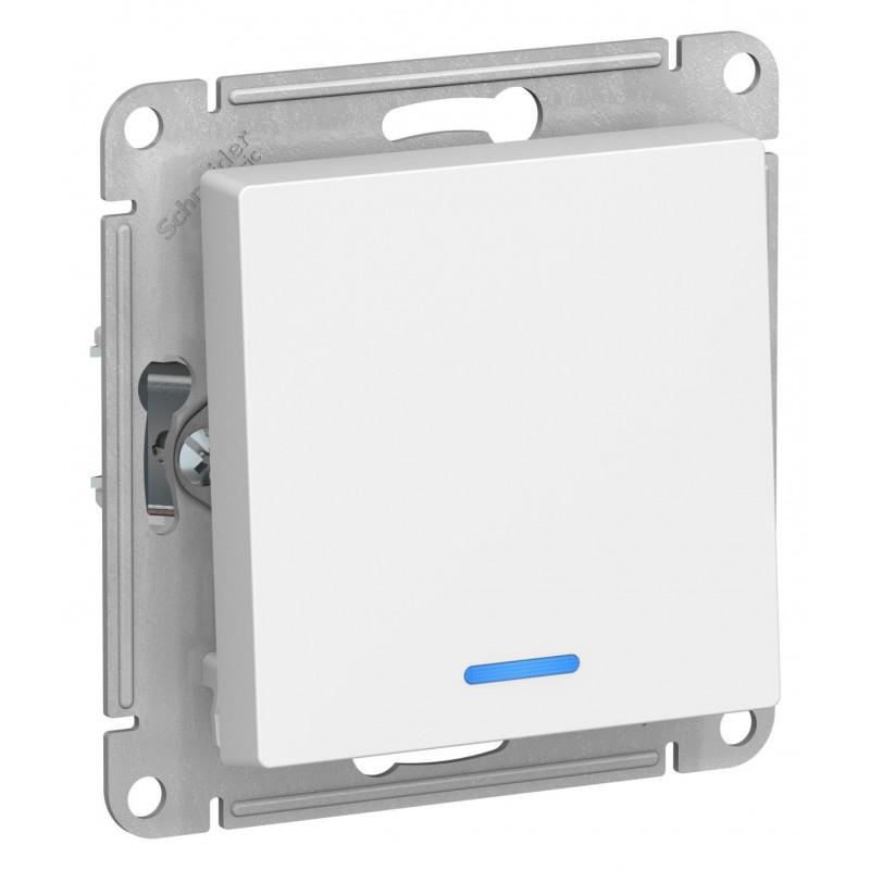 """SCHNEIDER ELECTRIC AtlasDesign Выключатель 1-кл с подсв, 10A 250V, """"белый"""" ATN000113 SE"""