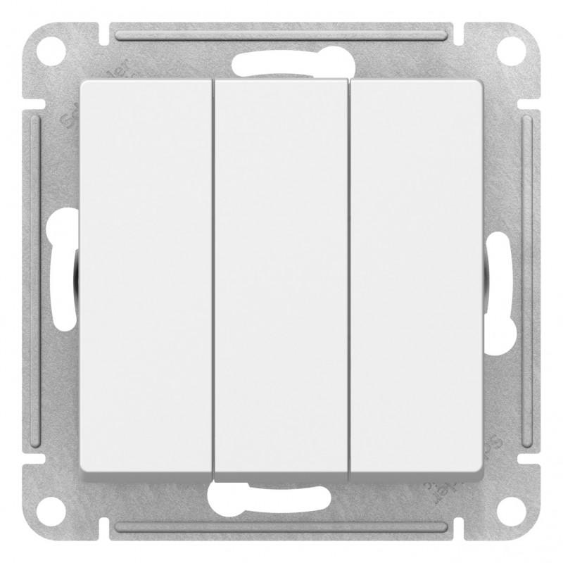 "SCHNEIDER ELECTRIC AtlasDesign Выключатель 3-кл, 10A 250V, ""белый"" ATN000131 SE"