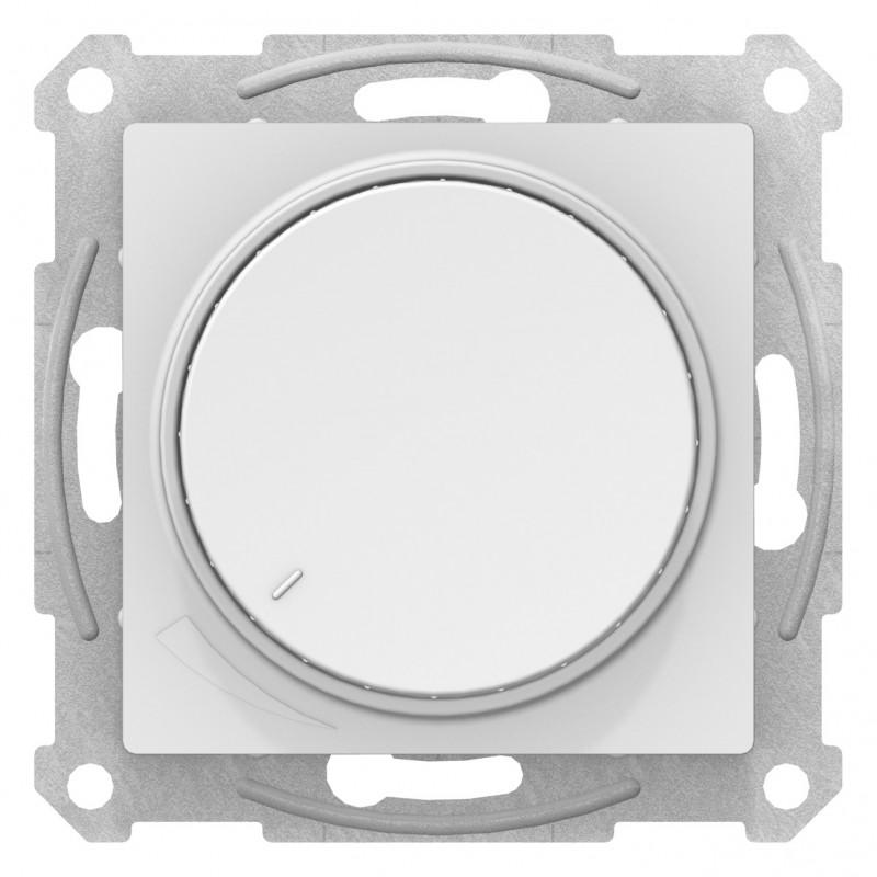 """SCHNEIDER ELECTRIC AtlasDesign Диммер повортно-нажимной 315Вт """"белый"""" ATN000134 SE"""