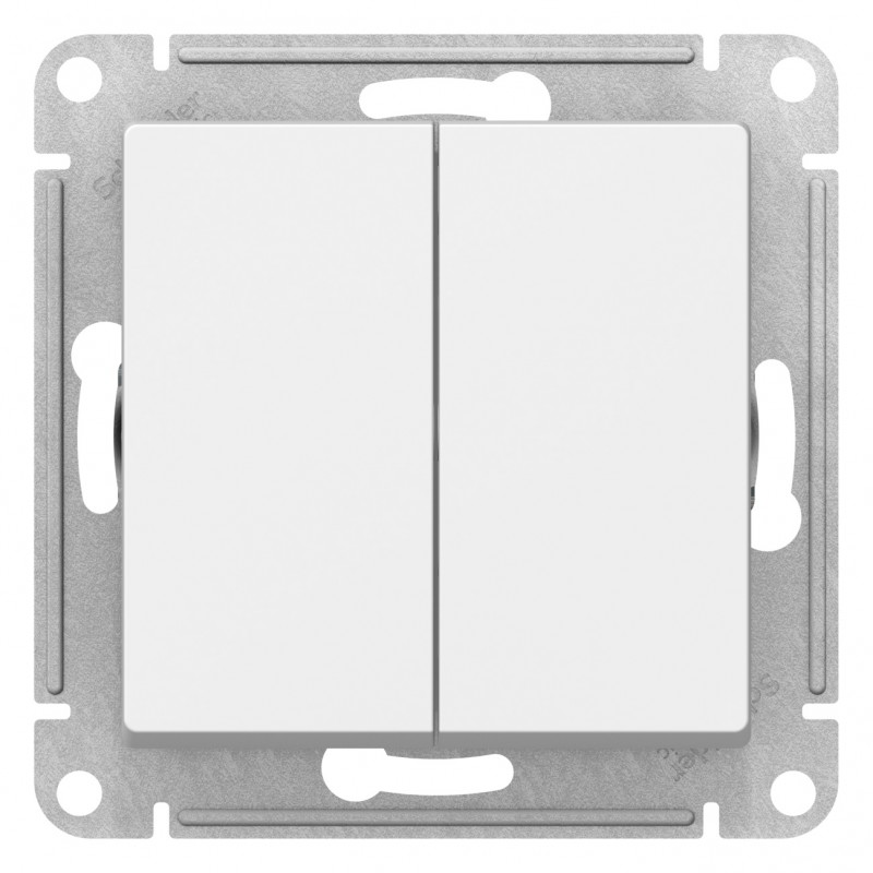 "SCHNEIDER ELECTRIC AtlasDesign Выключатель 2-кл, 10A 250V, ""белый"" ATN000151 SE"