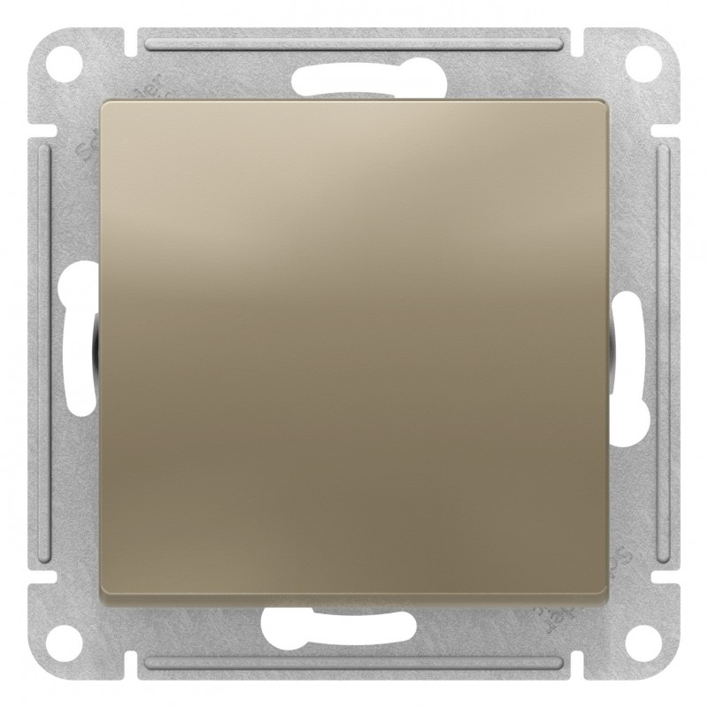 "SCHNEIDER ELECTRIC AtlasDesign Выключатель 1-кл, 10A 250V, ""шампань"" ATN000511 SE"