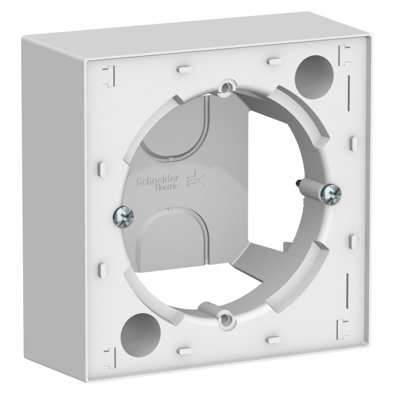 """SCHNEIDER ELECTRIC AtlasDesign Коробка для накладного монтажа (комбинируемая) """"белый"""" ATN000100 SE"""