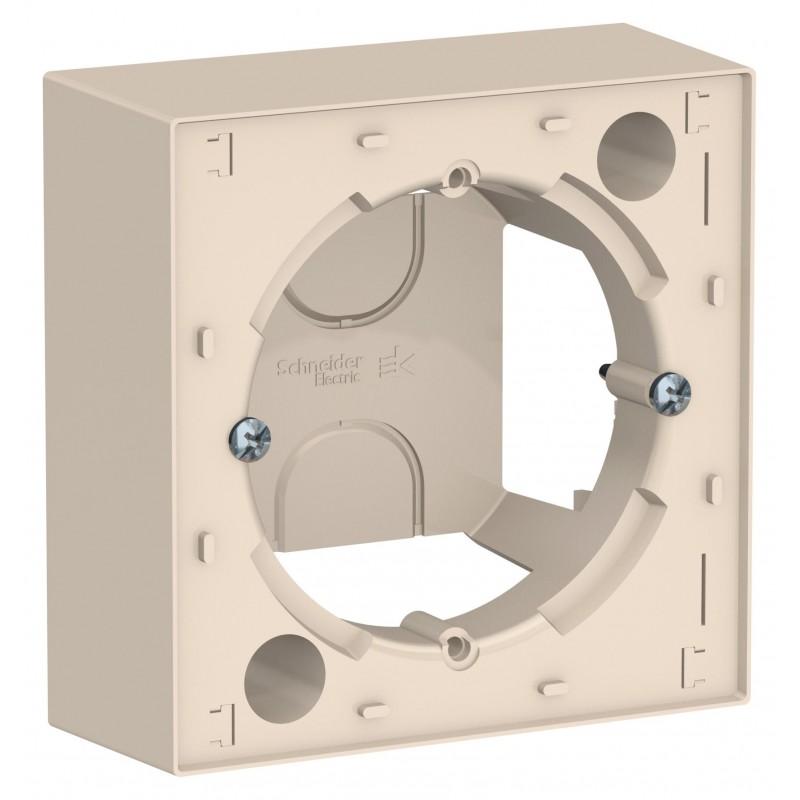 """SCHNEIDER ELECTRIC AtlasDesign Коробка для накладного монтажа (комбинируемая) """"бежевый"""" ATN000200 SE"""