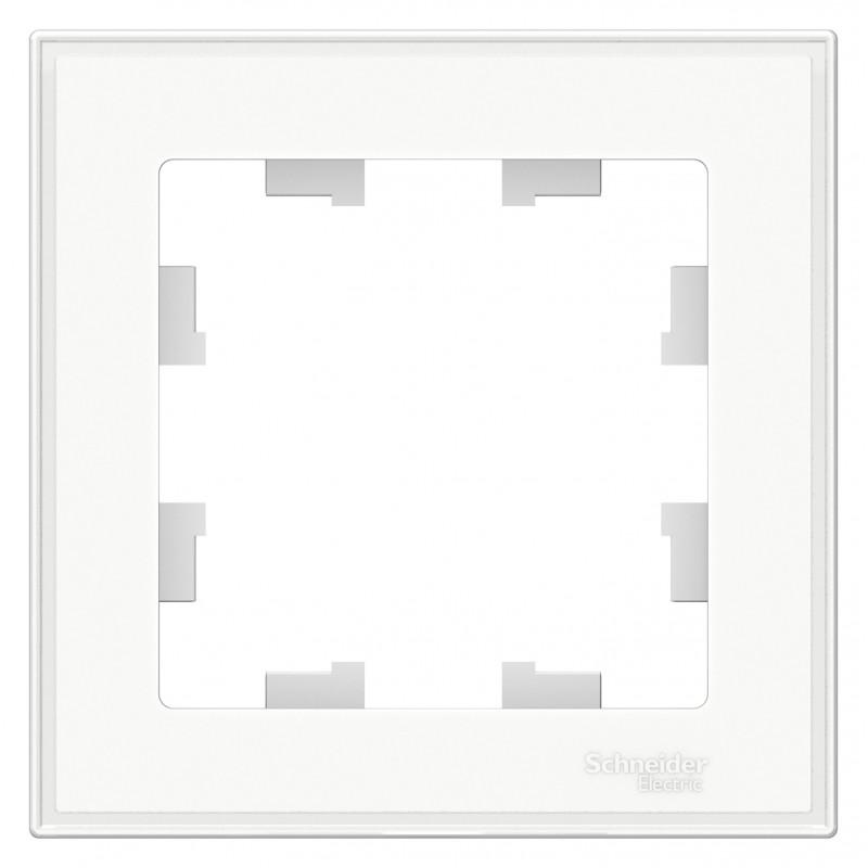 """SCHNEIDER ELECTRIC AtlasDesign Рамка 1-местная Art (с подложкой для """"раскраски""""), """"белый"""" ATN200101  SE"""