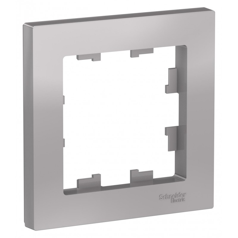 "SCHNEIDER ELECTRIC AtlasDesign Рамка 1-местная, ""алюминий"" ATN000301 SE"