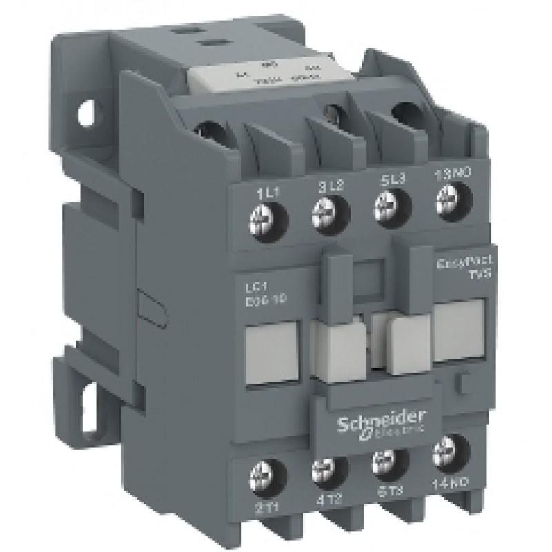 Контактор (магнитный пускатель) Schneider Electric EasyPact TVS(TeSys E) LC1E0901M5 на ток до 9 А для коммутации двигателей до 4 кВт(400В