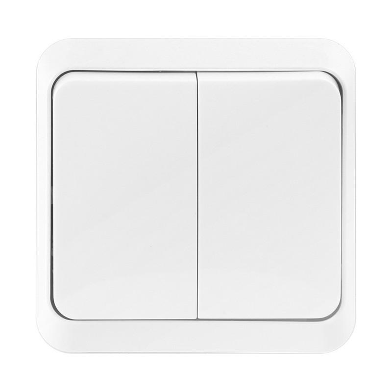 "Выключатель 2-клавишный 10А белый, Smartbuy ""Юпитер"" (SBE-03w-10-SW2-0)"