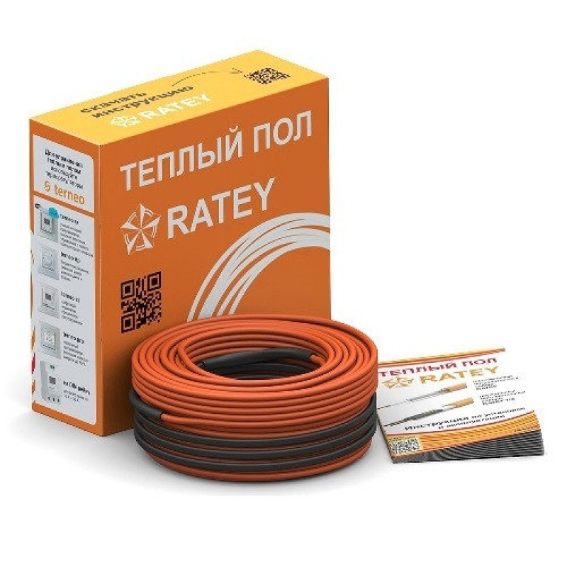 Двухжильный нагревательный кабель Ratey RD2 - 1100 Вт (5,5 - 7,3 м²)