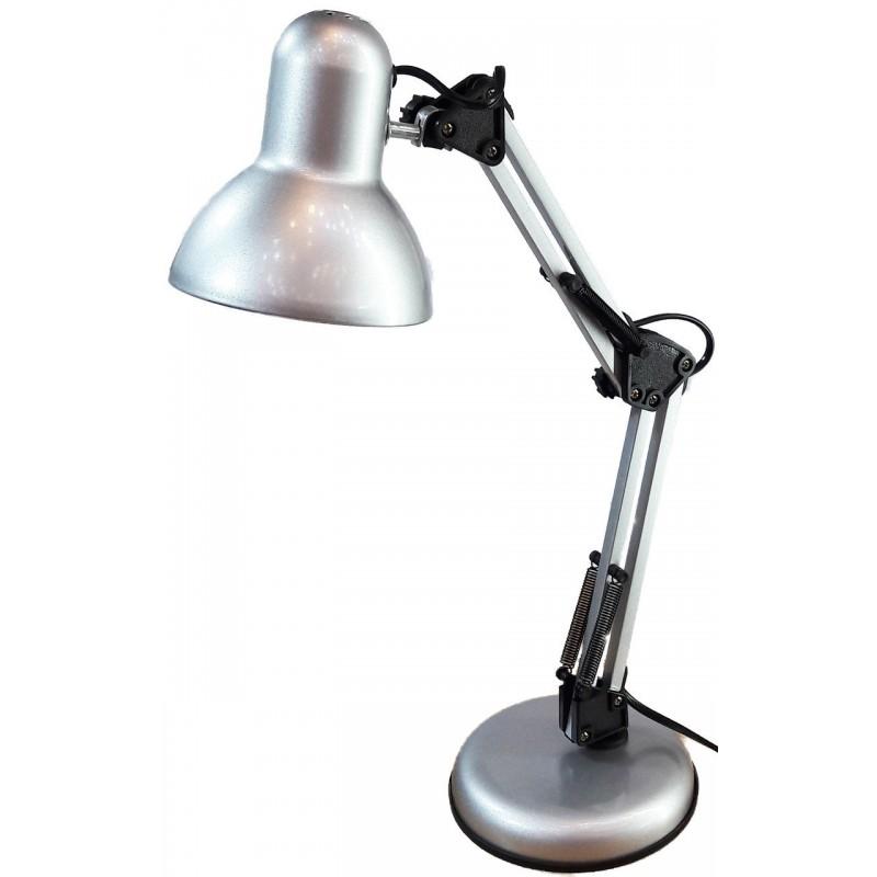 Лампа настольная UT-811 Е27 60W серебро на подставке шнур 1,5 м Уютель