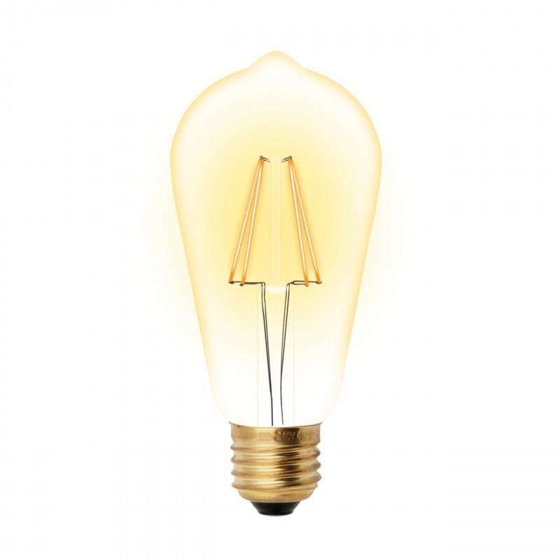 Ретро лампа светодиодная (UL-00002360) E27 5W 2250K прозрачная LED-ST64-5W/GOLDEN/E27 GLV22GO Uniel (Россия-Китай)