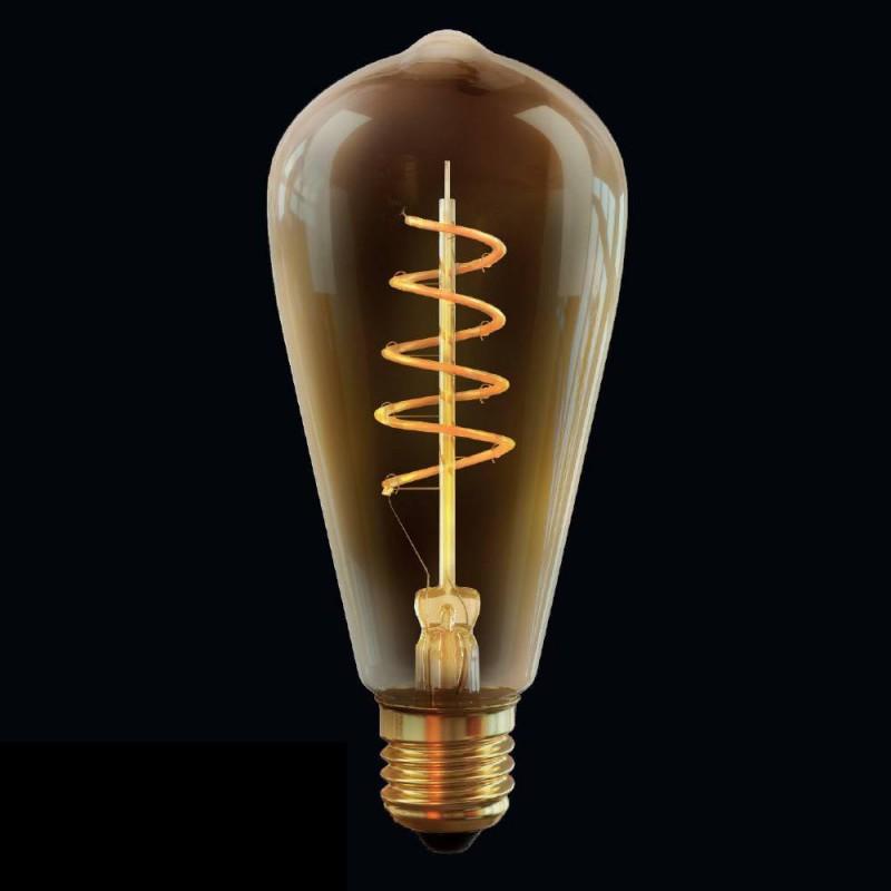 Ретро лампа светодиодная диммируемая E27 4W 2800К прозрачная VG10-ST64GE27warm4W-FB 7077 Voltega (Германия)