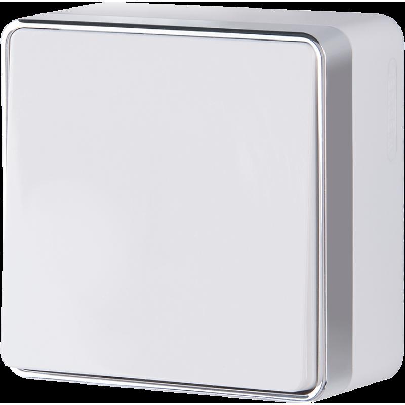 Выключатель одноклавишный Werkel Gallant белый WL15-01-01