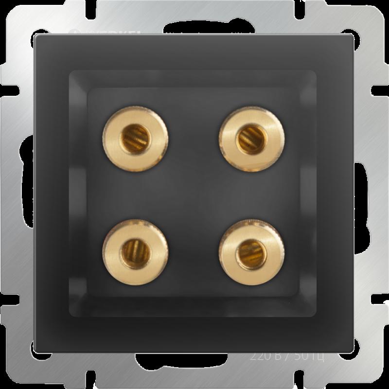 Акустическая розетка х4 Werkel Черный WL08-AUDIOx4