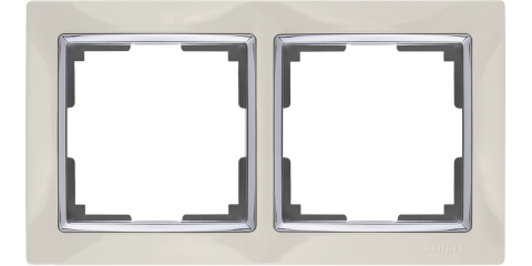 Рамка на 2 поста Werkel WL03-Frame-02 Слоновая кость