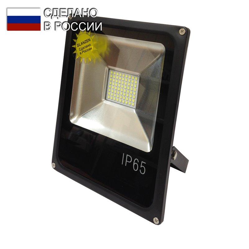 Прожектор светодиодный GLANZEN 50Вт 6000К 4000Лм FAD-0005-50