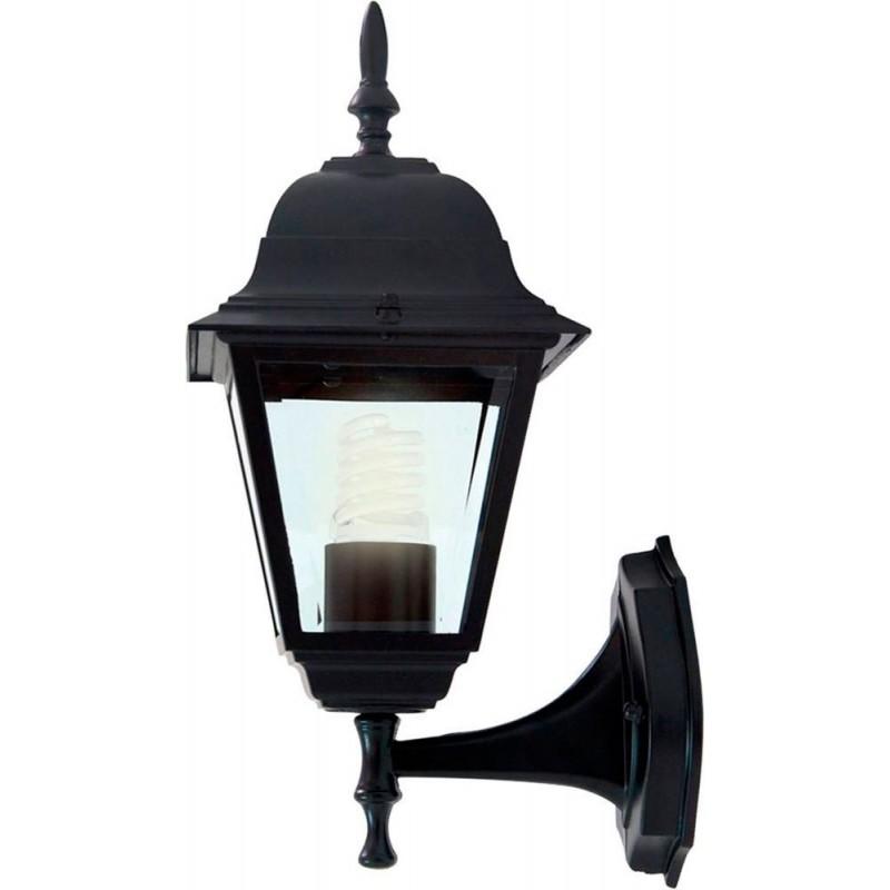 Светильник садово-парковый Feron 4101 четырехгранный  60W E27 230V, черный