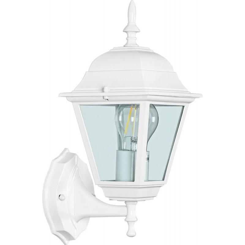 Светильник садово-парковый Feron 4101 четырехгранный  60W E27 230V, белый