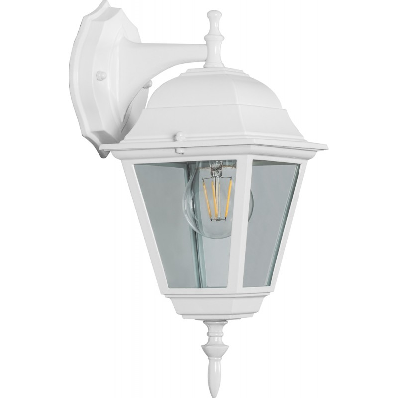 Светильник садово-парковый Feron 4102 четырехгранный  60W E27 230V, белый