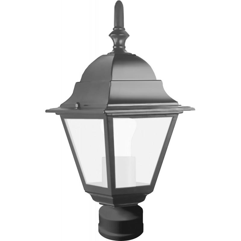 Светильник садово-парковый Feron 4103 четырехгранный  60W E27 230V, чёрный