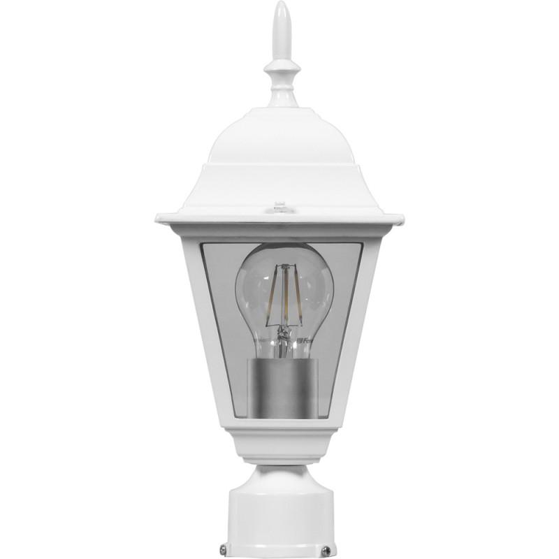 Светильник садово-парковый Feron 4103 четырехгранный  60W E27 230V, белый