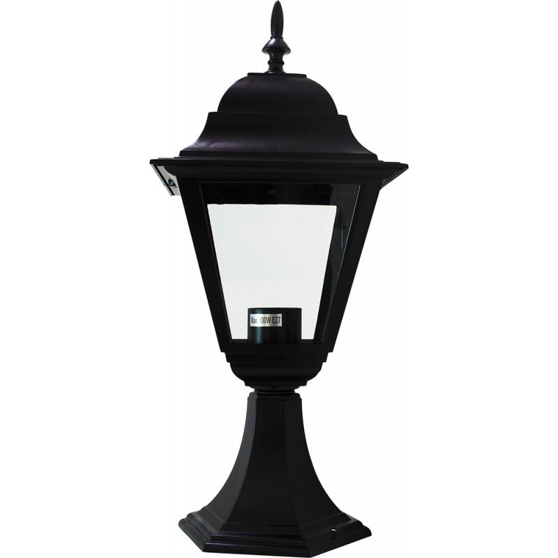 Светильник садово-парковый Feron 4104 четырехгранный  60W E27 230V, черный